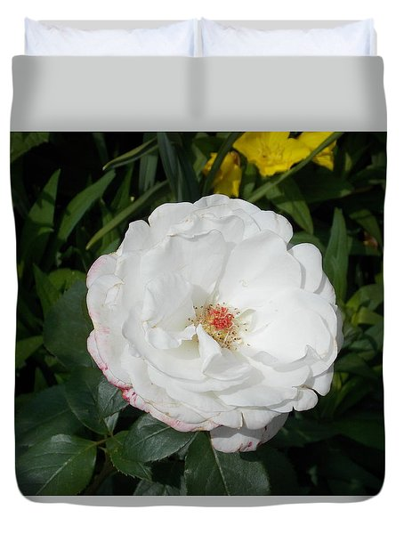 White Wild Rose Duvet Cover