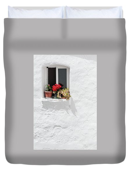 White Window Duvet Cover