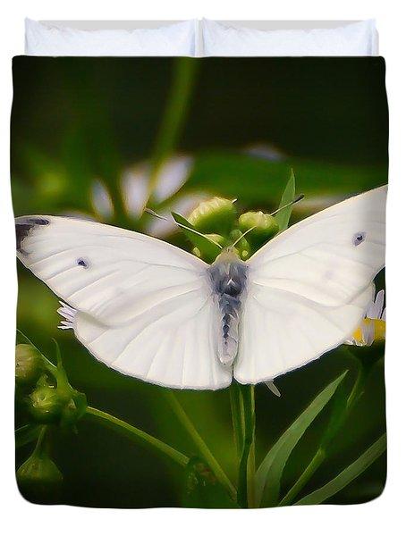 White Wings Of Wonder Duvet Cover