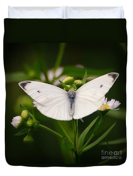 White Wings Of Wonder Duvet Cover by Kerri Farley
