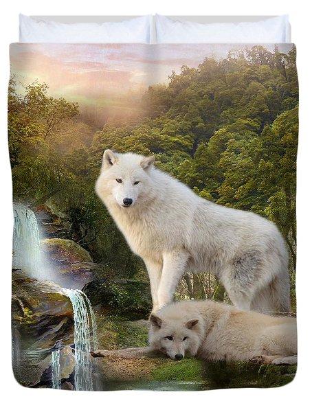 White Wolf Falls2 Duvet Cover
