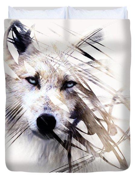 White Wolf Duvet Cover