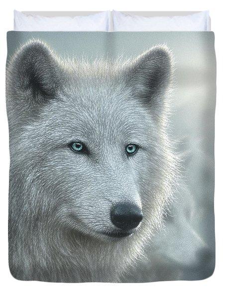 White Wolves - Whiteout Duvet Cover