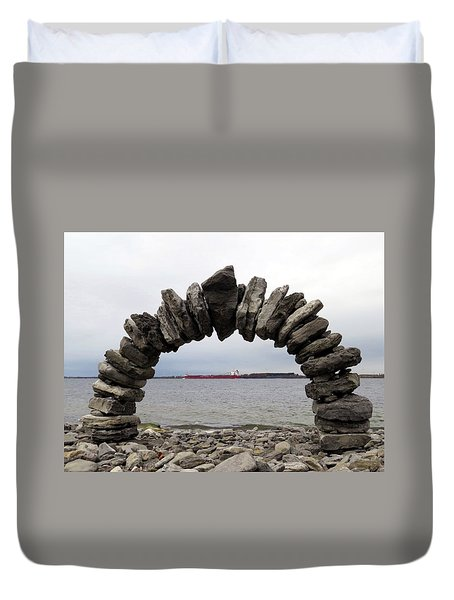Whitefish Bay Under The Arch Duvet Cover