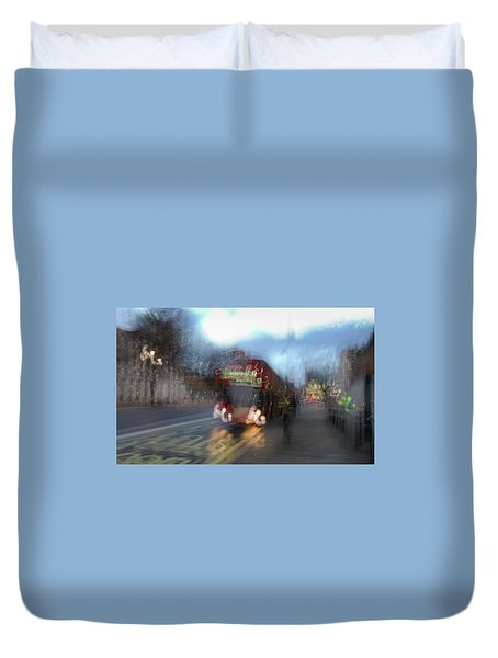 Duvet Cover featuring the photograph Whitehall by Alex Lapidus