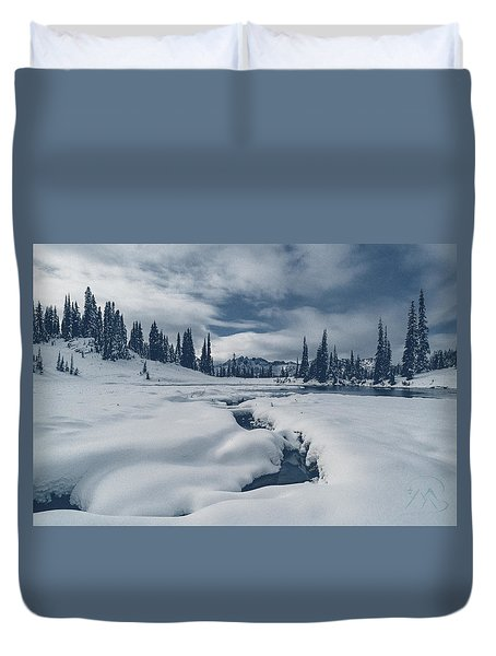 Duvet Cover featuring the photograph Whiteout by Gene Garnace