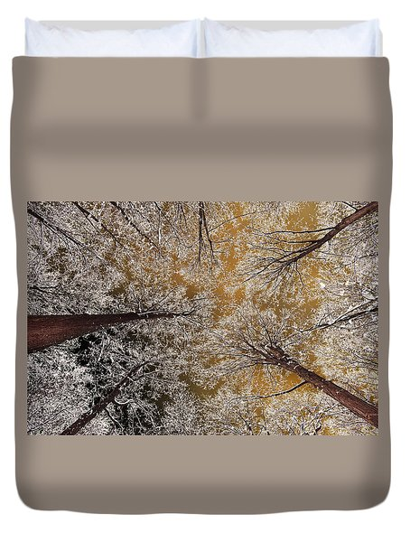 Duvet Cover featuring the photograph Whiteout by Tony Beck