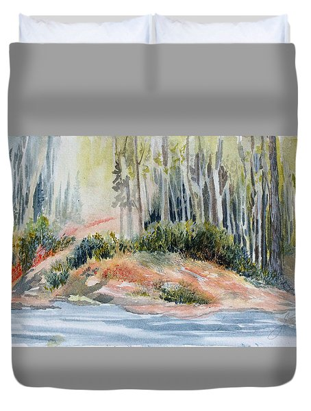Whiteshell View Duvet Cover by Joanne Smoley
