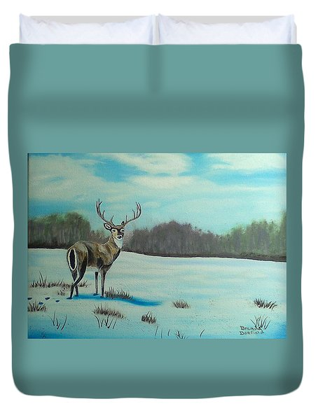 Whitetail Buck Duvet Cover