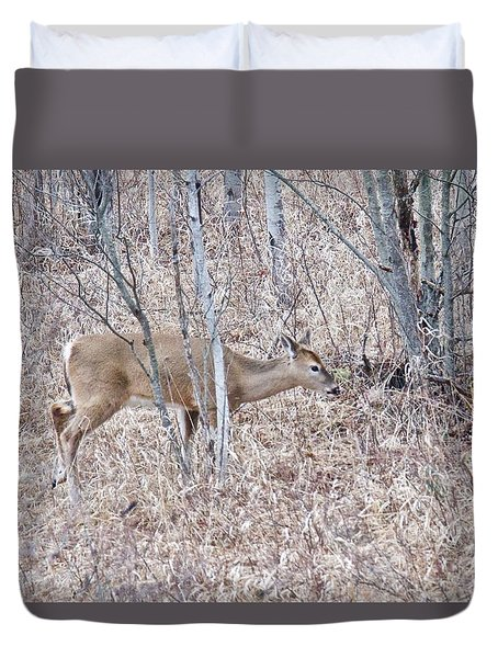 Duvet Cover featuring the photograph Whitetail Deer 1171 by Michael Peychich