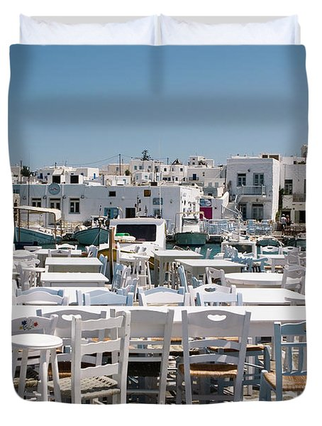 Whitewashed Naoussa Duvet Cover