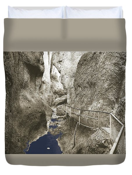 Whitewater Blu Duvet Cover by Jan W Faul