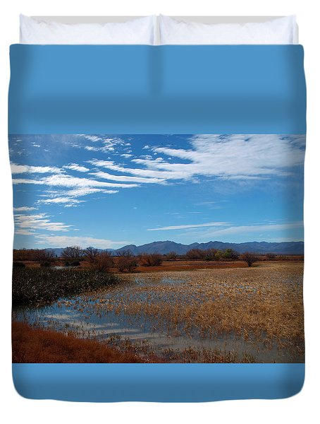 Duvet Cover featuring the photograph Whitewater Draw by James Peterson