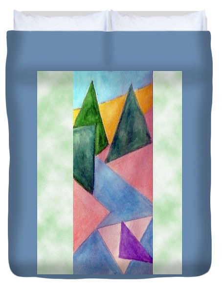 Whitewater Raft Duvet Cover by Loretta Nash