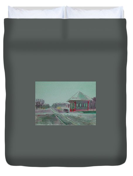 Whitewater Rail Station Duvet Cover