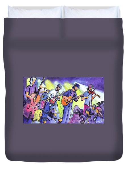 Duvet Cover featuring the painting Whitewater Ramble At The Barkley Ballroom by David Sockrider