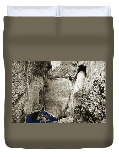Whitewater Too Blu Duvet Cover