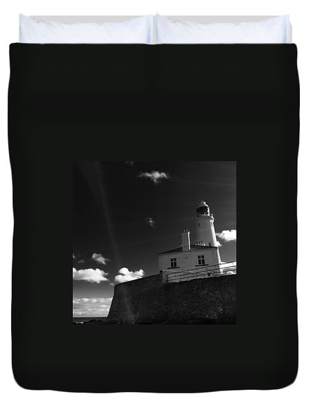 St.mary's Lighthouse - Whitley Bay Duvet Cover