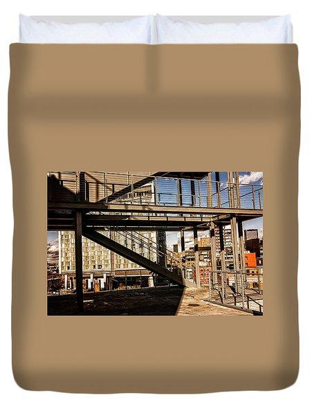 Whitney Terrace Grid Duvet Cover