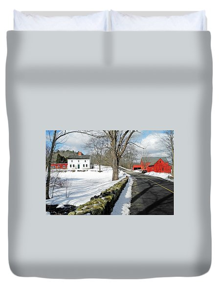 Duvet Cover featuring the photograph Whittier Birthplace by Wayne Marshall Chase
