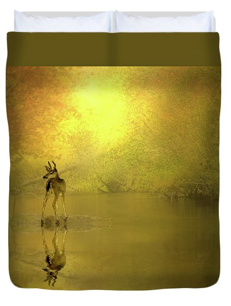 A Silent Autumn Morning Duvet Cover by Diane Schuster