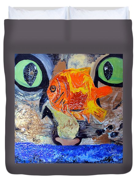 Who Let The Cat Out Duvet Cover
