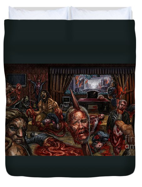 Who Rules Duvet Cover by Tony Koehl