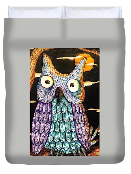 Whom? Duvet Cover by Jame Hayes