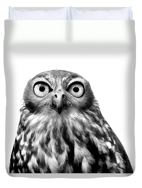 Whoo You Callin A Wise Guy Duvet Cover