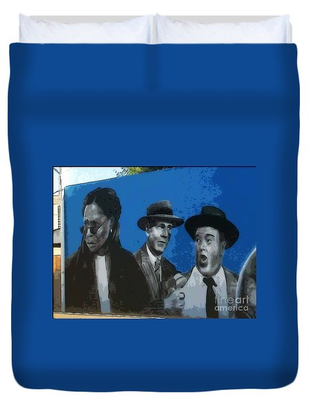 Whoopie And Laurel And Hardy Duvet Cover