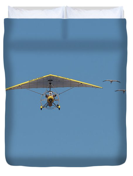 Whooping Cranes And Operation Migration Ultralight Duvet Cover