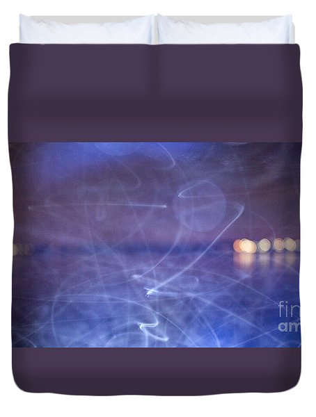 Whoosh Of Mosquitoes In The Night Duvet Cover