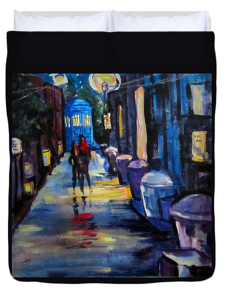 Who's Heading Back Duvet Cover by Barbara O'Toole