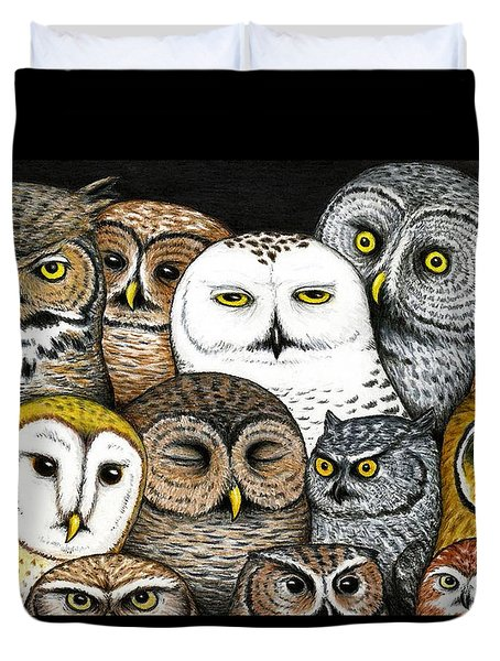 Who's Hoo Duvet Cover by Don McMahon