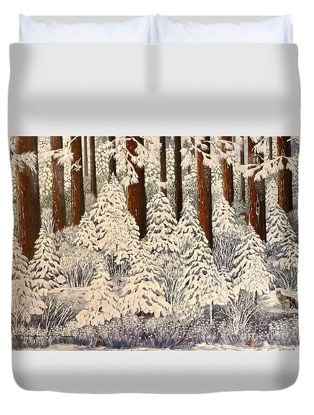 Whose Woods These Are I Think I Know Duvet Cover