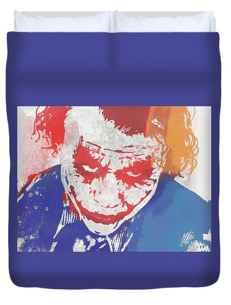 Why So Serious Duvet Cover by Dan Sproul
