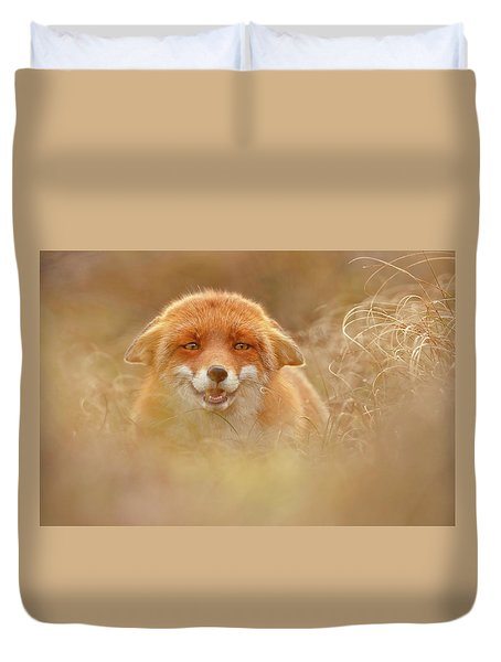 Why So Serious - Funny Fox Duvet Cover