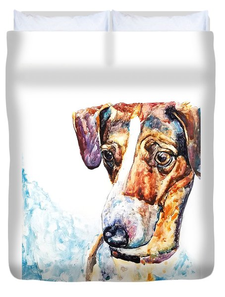 Why The Long Face? Duvet Cover