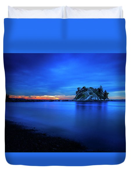 Whytecliff Sunset Duvet Cover by John Poon