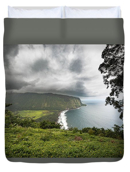Duvet Cover featuring the photograph Wiapio Valley by Allen Biedrzycki