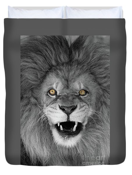 Wicked Black And White  T O C Duvet Cover by Judy Whitton
