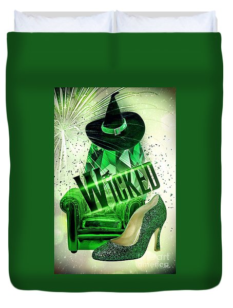 Wicked Duvet Cover by Mo T