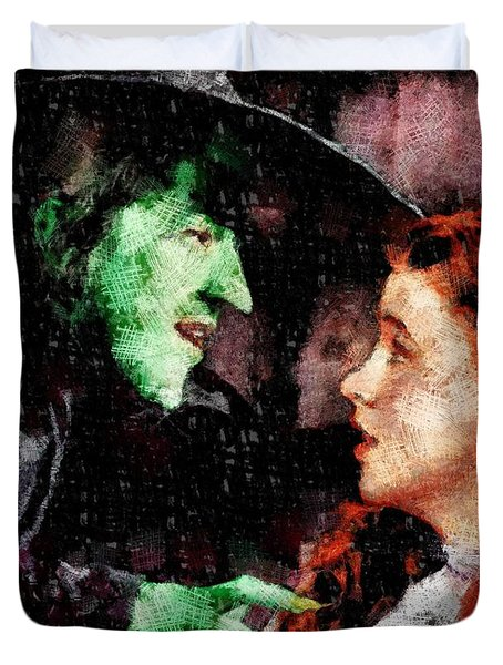 Wicked Witch And Dorothy, Wizard Of Oz Duvet Cover