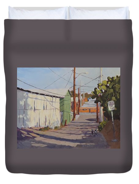 Wickenburg Alley Cats Duvet Cover