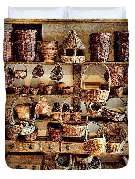 Wicker Baskets Duvet Cover