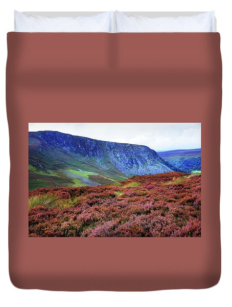 Duvet Cover featuring the photograph Wicklow Heather Carpet by Jenny Rainbow