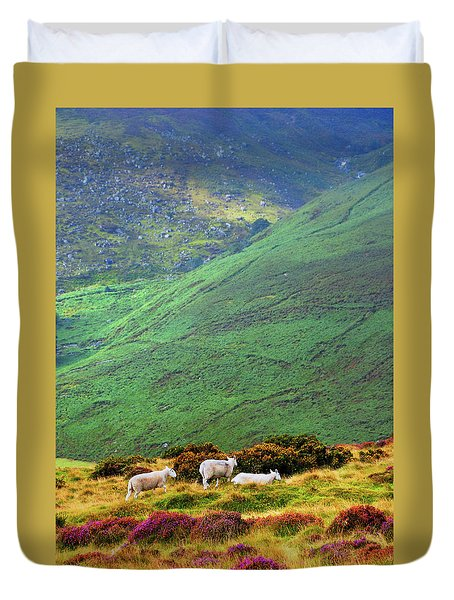 Duvet Cover featuring the photograph Wicklow Pastoral by Jenny Rainbow