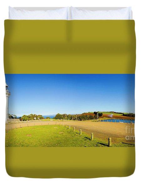 Wide Coastal Beacon Duvet Cover