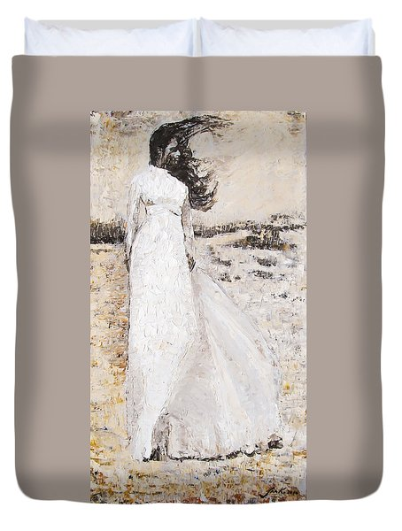 Out On The Wiley Windy Moors Duvet Cover by Jarko Aka Lui Grande