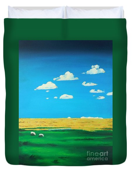 Wide Open Spaces And A Big Blue Sky Duvet Cover